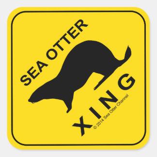 Sea Otter Xing 正方形シール