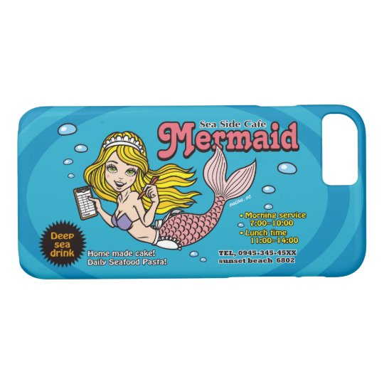 Sea Side Cafe Mermaid  iPhoneケース iPhone 8/7ケース