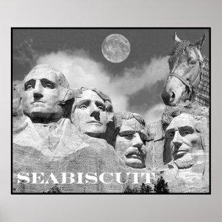 Seabiscuitはラシュモア山にあります! ポスター