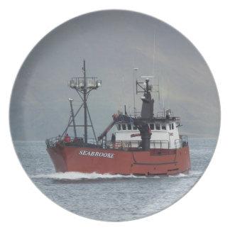 Seabrookeのオランダ港、AKのカニの漁船 プレート