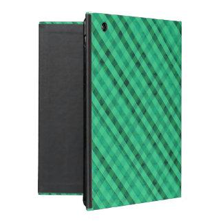 Seafoamの緑の格子縞-カスタムなiPad 2/3/4の場合 iPad ケース