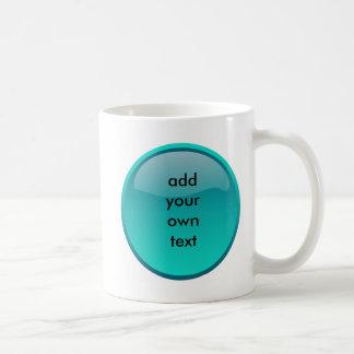 seafoamの緑ボタン コーヒーマグカップ