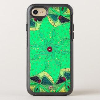 Seafoamの開花のOtteboxの電話箱 オッターボックスシンメトリーiPhone 7 ケース