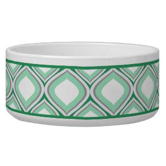 Seafoam緑のOgee陶磁器犬ボール