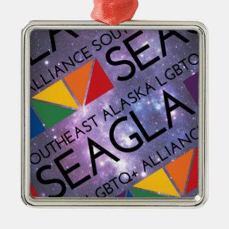 SEAGLAの宇宙のロゴ メタルオーナメント