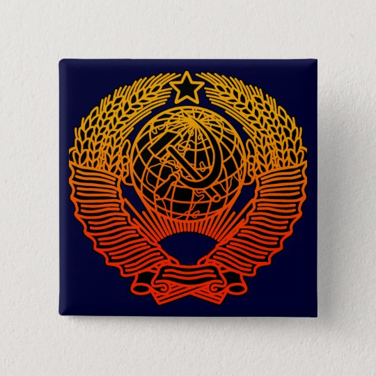 Seal(CCCP) 5.1cm 正方形バッジ