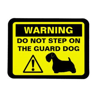 Sealyhamテリアのユーモアのあるな番犬の警告 マグネット