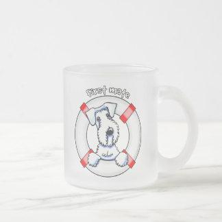 Sealyhamテリアの一等航海士 フロストグラスマグカップ