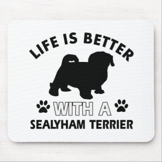 Sealyhamテリア犬の品種デザイン マウスパッド