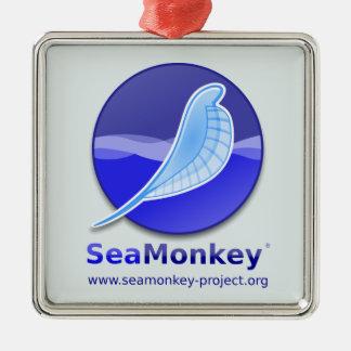 SeaMonkeyのプロジェクト-縦のロゴ メタルオーナメント