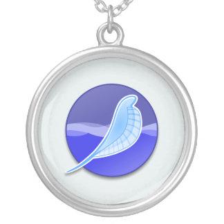 SeaMonkeyのロゴ シルバープレートネックレス