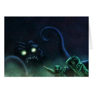 seamonsterのサイエンスフィクションかファンタジーのgreetingcard カード