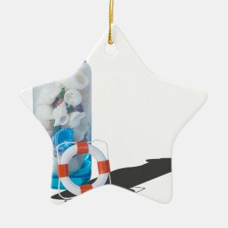 SeashellsJarLifePreservers090615 セラミックオーナメント