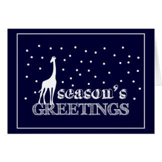 Seasons Greetings Giraffe カード