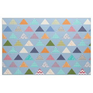 Seaviewの三角形の青 ファブリック