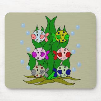 Seaweeのフグ家族 マウスパッド