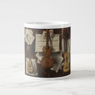 Sebastiano Lazzari Trompe -バイオリンおよび音楽ノート ジャンボコーヒーマグカップ