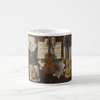 Sebastiano Lazzari Trompe -バイオリンおよび音楽ノート モーフィングマグカップ