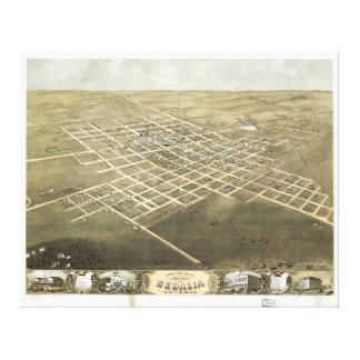Sedalia Pettis郡ミズーリ(1869年)市 キャンバスプリント