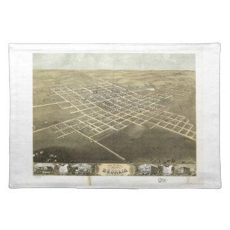 Sedalia Pettis郡ミズーリ(1869年)市 ランチョンマット