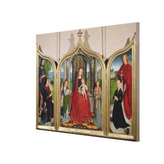 Sedano家族、c.1495-98のトリプティク キャンバスプリント