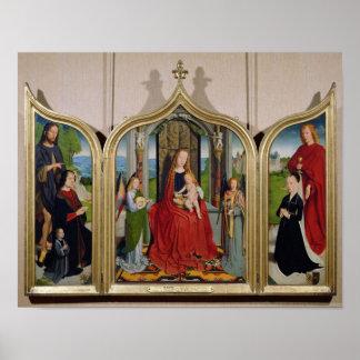 Sedano家族、c.1495-98のトリプティク ポスター