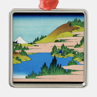 Segamiの地域Hokusaiの箱根の湖 メタルオーナメント