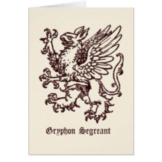 segreant中世紋章学Gryphon カード