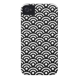 Seigaiha白黒パターンIphone 4/4S Case-Mate iPhone 4 ケース