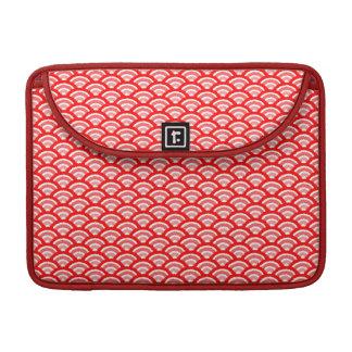 seigaiha (赤い) MacBook proスリーブ