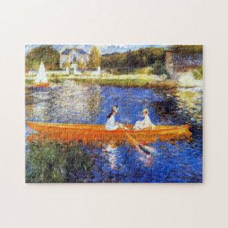 Seine川ルノアールのファインアートの船遊び ジグソーパズル