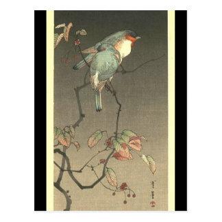 Seitei渡辺1851年- 1918年著夜の青い鳥 ポストカード