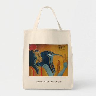 SekhmetおよびThothの買い物袋 トートバッグ