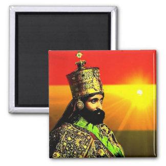 Selassie I Pin (正方形Pin)王 マグネット