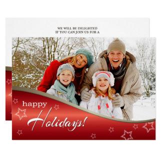 Selebrate季節。 クリスマスのパーティの招待状 カード
