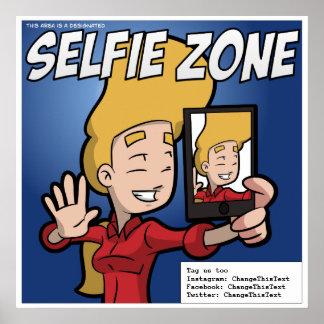 Selfieの地帯ポスター(カスタマイズ可能な) ポスター