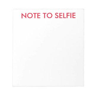 selfieの執筆メモ帳へのノート ノートパッド