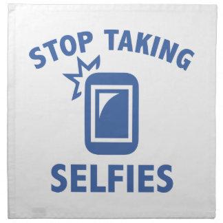 Selfiesを取ることを止めて下さい ナプキンクロス