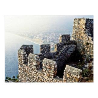 Seljukの城壁、Alanya - 1221 A.D. ポストカード