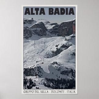 Sellaロンダ- Alta Badiaの操業20 ポスター