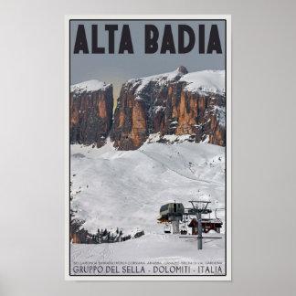 Sellaロンダ- Alta Badia ポスター