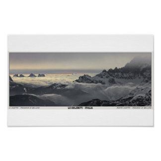 Sellaロンダ- Monte Civettaのパノラマ ポスター