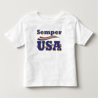 Semper米国のティーアメリカの星条旗のTシャツ トドラーTシャツ