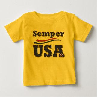 Semper米国のティーアメリカの星条旗のTシャツ ベビーTシャツ