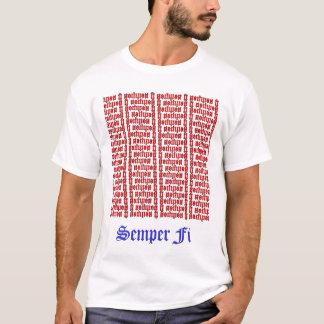 Semper Fi Ambigram Tシャツ