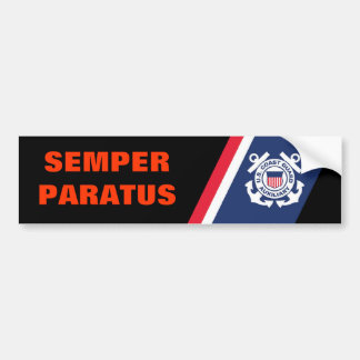 Semper Paratusのバンパーステッカー バンパーステッカー