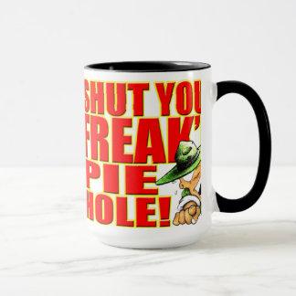 SemperToonsのマグ-あなたのFreak'n PieHoleを締めて下さい マグカップ