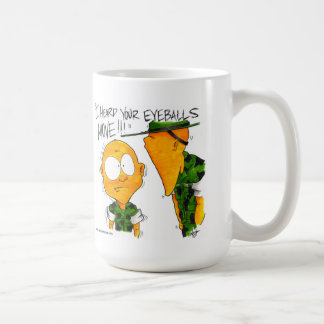 SemperToonsのマグ-眼球移動 コーヒーマグカップ