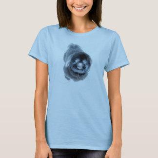senjaの黒いシーズー(犬)のtzu tシャツ