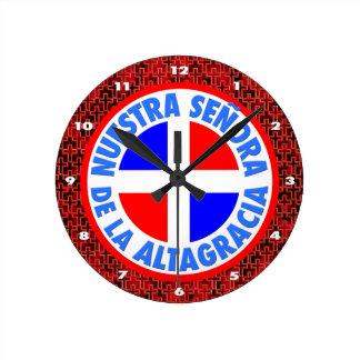 Senoraa de la Altagracia ラウンド壁時計